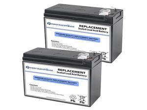 Powerwarehouse APC BE550MC UPS Battery - Premium Powerwarehouse 12V Lead Acid Battery Catridge #110 (2 Pack)