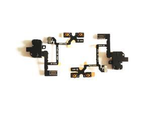 iPhone 4 4G Audio Vibrate On/Off Volume Control Flex Cable Replacement Part (Black)