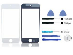 White front outer glass lens screen replacement part + tools for apple ipod Touch 5 (LCD & Digitizer not included)