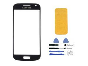 Samsung Galaxy S4 SIV Mini i9190 i9195 BLACK Glass Lens Touch Screen Display Replacement Part (LCD & Digitizer not included) + Adhesive + Tools + Instruction