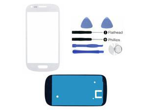 Samsung Galaxy S3 SIII Mini i8190 White Glass Lens Touch Screen Display Replacement Part (LCD & Digitizer not included) + Adhesive + Tools + Instruction