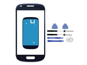 Samsung Galaxy S3 SIII Mini i8190 Blue Glass Lens Touch Screen Display Replacement Part (LCD & Digitizer not included) + Adhesive + Tools + Instruction
