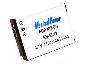 Maximalpower EN-EL12 li-ion battery for Nikon Coolpix S9300, S9100, S8100, S6100, and more Fully Decoded, 3 yr warranty