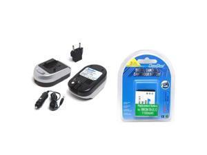 Maximal Power FC600 NIK ENEL11 and DB NIK EN-EL12 Camera Battery and Charger Combo for Nikon ENEL12 EN-EL12 S620 S630 S610C S6100 S620 (Black Silver)