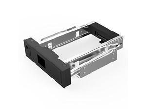 Soah 1106SS Tool Free 3.5 SATA to 5.25 SATA Stainless Bracket Internal Hard Driver Mounting Bracket Adapter