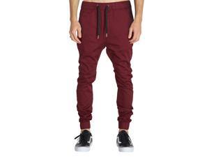 Italy Morn Fashion Mens Casual Trousers Skinny Fit Tapered Drop Crotch Joggers Harem Pants Sweatpants Hip Hop Dance Basketball Jogging Elastic Waist Drawstring  S(28-30) M(32) L(34) XL(36) 100% Cotton
