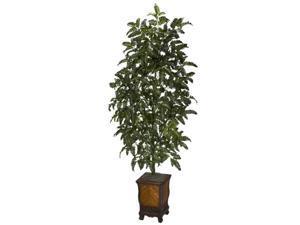 Nearly Natural - 6716 - Bracken Fern w/Decorative Vase Silk Plant