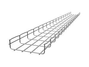 CABLOFIL CF105/200EZ Wire Mesh Cable Tray, 8x4In, 10 Ft