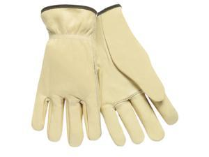 Full Leather Cow Grain Driver Gloves Tan Large 12 Pairs