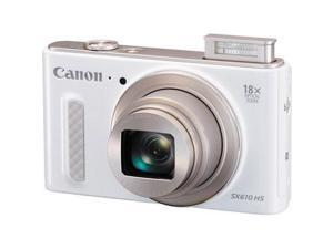 Canon - 0112C001 - Canon PowerShot SX610 HS 20.2 Megapixel Compact Camera - White - 3 LCD - 16:9 - 18x Optical Zoom - 4x