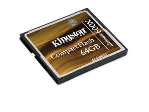 Kingston Ultimate 600x 64GB Compact Flash (CF) Flash Card w/Recovery s/w Model CF/64GB-U3
