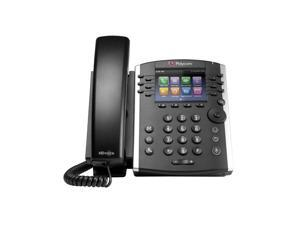 Polycom - 2200-46157-025-VQMON - VVX 400 12-line Desktop Phone with HD Voice and VQMon - PoE without Power Supply