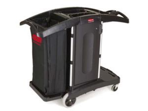 9T76 Compact Folding Housekeeping Cart (Black)