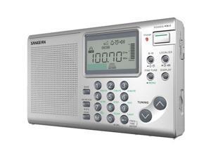 Sangean - ATS-405 - Sangean ATS-405 Radio Tuner - 36 x FM, 36 x AM, 36 x SW PresetsLCD Display - Cable - Headphone - 4 x