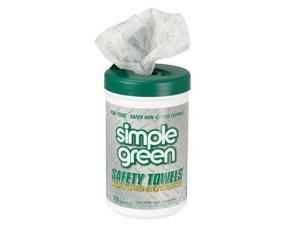 Simple Green - SMP 13351 - Safety Towels, 10 x 11 3/4, 75/Canister, 6 per Carton