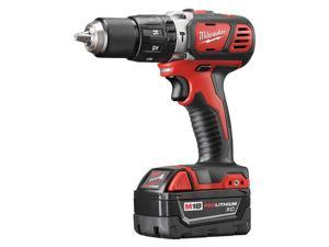 Milwaukee Electric Tool - 2607-22 - 1/2 Cordless Hammer Drill/Driver Kit, 18.0 Voltage, Battery Included