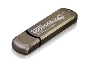 Kanguru - KDF3000-128G - Kanguru Defender3000 FIPS 140-2 Level 3, SuperSpeed USB 3.0 Secure Flash Drive, 128G - FIPS