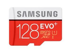 Samsung - MB-MC128DA/AM - Samsung EVO+ 128 GB microSD Extended Capacity (microSDXC) - Class 10/UHS-I (U1) - 80 MB/s Read - 20 MB/s Write - 1 Card