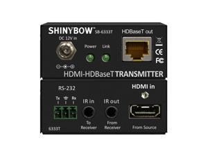 Shinybow - SB-6333-KIT - HDMI/IR/RS-232 Over HDBaseT 230ft (70M) CAT6 Extender