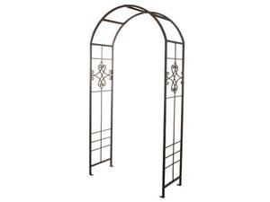 "Plastec Products 90"" Quatrefoil Arbor - Steel (Black)"