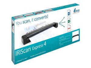 IRIS IRIScan Express 4 (458511) Up to 8 ppm 1200 dpi USB Sheetfed Mobile Scanner
