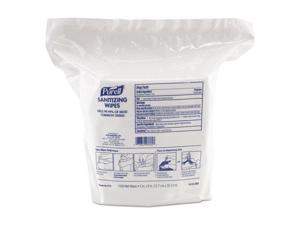 Gojo - GOJ 911502CT - Premoistened Hand Sanitizing Wipes, Nonwoven Fiber, 5 x 8, 1500/Pack, 2 PK/CT