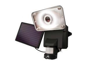 Maxsa - 44642-CAM-BK - MAXSA INNOVATIONS 44642-CAM-BK Solar-Powered Security Video Camera & Floodlight