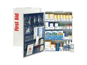 First Aid Only - 90576 - First Aid Kit, Cabinet, Metal Case Material, General Purpose, 150 People Served Per Kit