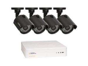 Q-See 4 Channel AHD Surveillance DVR w/1TB HDD and  4 x 720P Day / Night In / Outdoor Security Cameras (QTH4-4Z3-1)