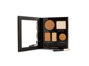 The Flawless Face Book - # Tan (1x Creme Compact, 1x Pressed Powder w/ sponge, 1x Secret Camouflage...) - 5pcs