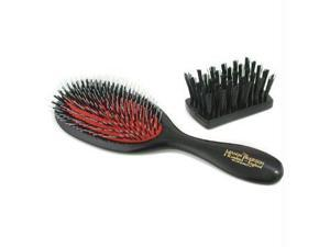 Boar Bristle & Nylon - Handy Mixture Bristle & Nylon Hair Brush (Dark Ruby) - 1pc
