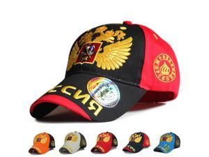 New contrast color the national emblem of Russia caps Double-headed Eagle Embroidery hats casual Baseball Caps hip hop cap Sport