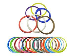 ABS 3D Filament  Refills Pack of 20 Colors INCLUDES 5 Luminous!  *5 Meters 1.75mm Around For Tritina 3D Printing Pen Printer(Multicolor)