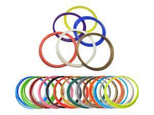 PLA 3D Filament Refills Pack of 20 Colors INCLUDES 4 Luminous! *5 Meters 1.75mm Around For Tritina 3D Printing Pen Printer (Multicolor)
