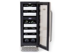Whynter BWR-171DS Elite 17 Bottle Seamless Stainless Steel Door Dual Zone Built-in Wine Refrigerator