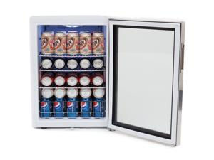Whynter BR-091WS Beverage Refrigerator With Lock - Stainless Steel 90 Can Capacity