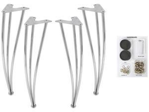 Dorel Home Products 3518096 Set of 4 Silver Legs for Round Bentwood Table top