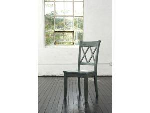 Signature Design by Ashley D540-101 Dining Room Side Chair (Set of 2) Mestler Blue/Green