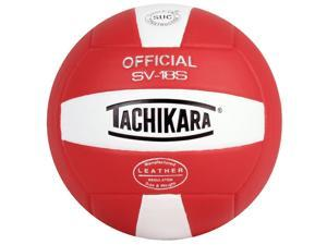 Tachikara SV18S Institution and Recreational Play Cordley Composite Leather Volleyball (Scarlet-White)