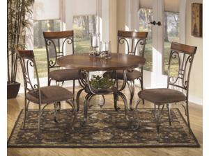 Signature Design by Ashley D313-15B Round Dining Table Base Plentywood, Brown