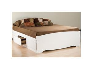 Prepac WBQ-6200-3K Queen Mate's Platform Storage Bed with 6 Drawers - White