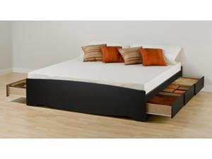 Prepac BBK-8400-K King Mate's Platform Storage Bed with 6 Drawers - Black