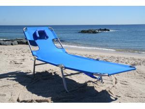 Ostrich CHS-1002B-BLUE Ostrich Chaise Lounge With Face Down Option - Blue