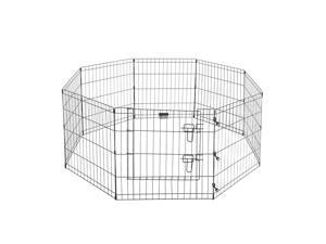 "Pet Trex 24"" Exercise Playpen for Dogs 24"" x 24"" High Panels with Gate"