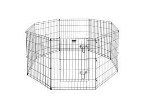 "Pet Trex 24"" Exercise Playpen for Dogs 24"" x 30"" High Panels with Gate"