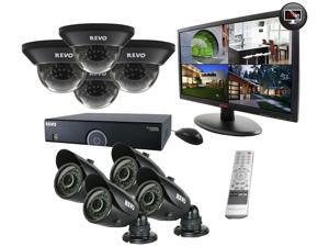 16 Channel 2TB 960H DVR Surveillance System with 8 700TVL 100-Feet Night Vision Cameras and 21.5-Inch Monitor (Black)