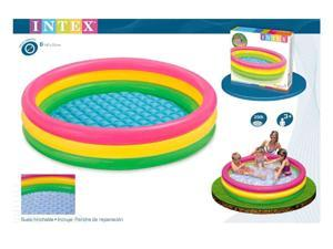 Intex Sunset Glow Pool Ring with Inflatable Floor