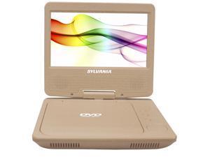 """Sylvania 7"""" Portable DVD Player, Swivel Screen (Gold)"""