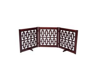 "Primetime Petz Contemporary Designer 27"" Pet Gate, Walnut"