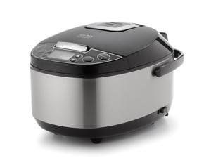 Aroma Professional 12 Cup Cooked Egg Shape Digital Rice Cooker, Slow Cooker & Food Steamer - ARC-616SB